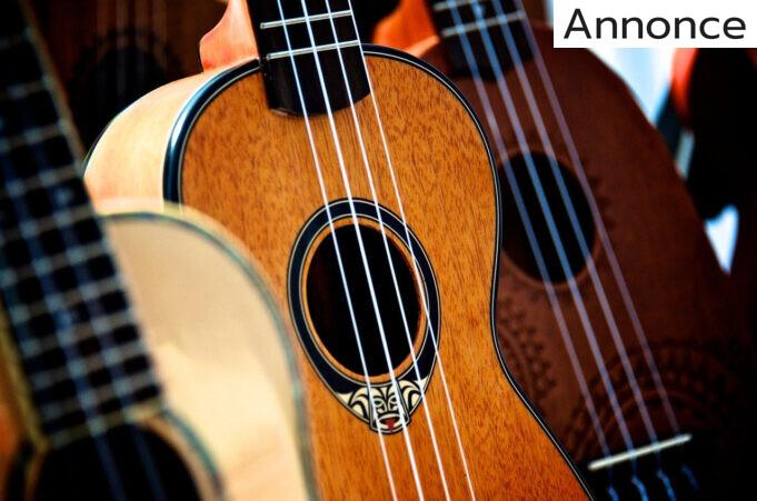 close-up af ukulele
